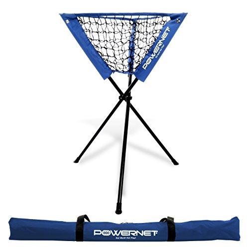 PowerNet Baseball Softball Portable Batting Practice Ball Caddy (Royal Blue)