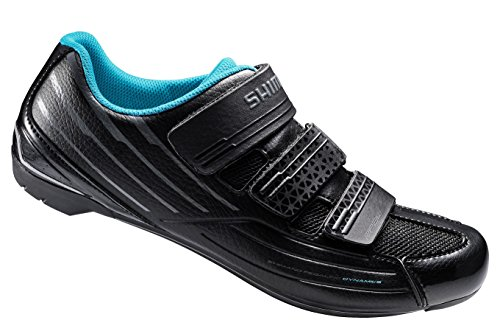 Shimano SH-RP2 Women's Touring Road Cycling Synthetic Leather Shoes, Black, 40