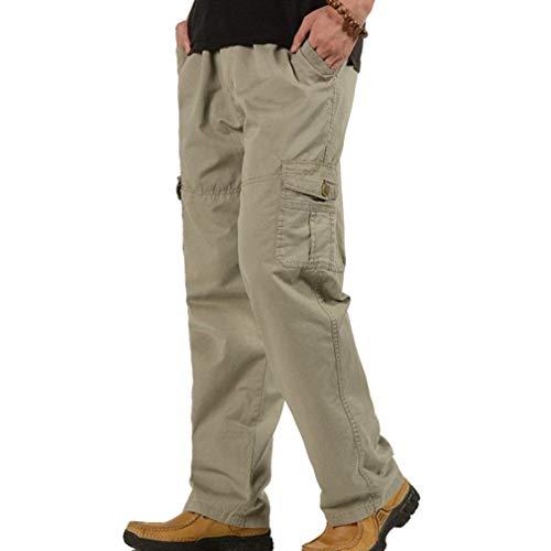 ADELINA Pantalones Rectos Flojos para Hombres Pantalones Vaqueros Rectos para Ropa con Hombres Bolsillos Y Pantalones Grau