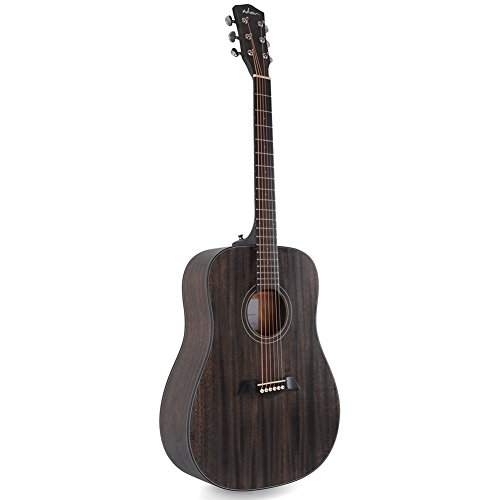 ADM 41 Inch Hand Rubbed Varnish Acoustic Guitar with Steel Strings, Deluxe Matt Grey - FREE Gig Bag Included by ADM