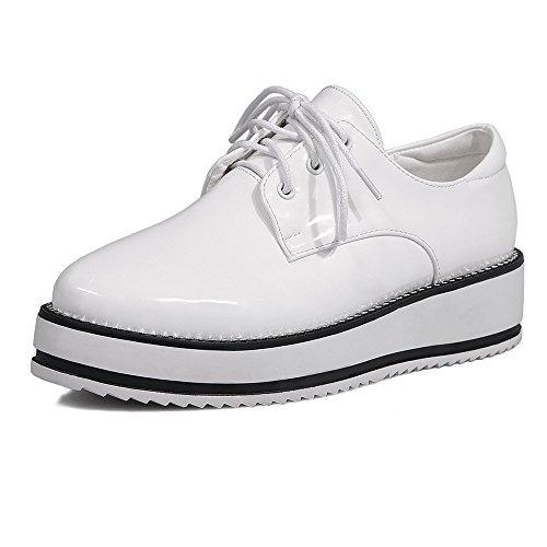 Talón White CXQ Mujer Tacones Chunky amp;X con QIN Zapatos La Talones Plataforma xwUwPq0rZg