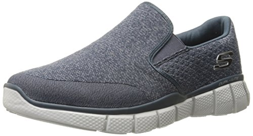 Skechers Sport Men's Equalizer 2.0 Wide Slip-on Loafer,Navy/Gray,10.5 4E US (Skechers Slip On Shoes)