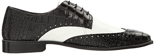 Stacy Adams Men's Giordano Wingtip Oxford Black/White cheap sale shop for discount authentic online wiki cheap online O0136O93