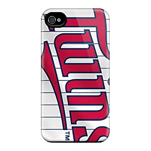 Scratch Protection Hard Phone Cases For Iphone 6 With Allow Personal Design Beautiful Minnesota Twins Pattern JoanneOickle