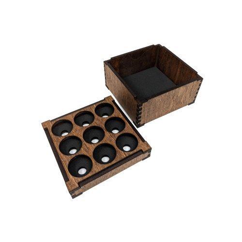 9 TANK ORGANIZER w/STORAGE BOX wood wooden atty holder stand display vape