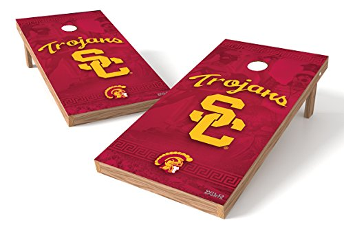 Wild Sports NCAA College USC Trojans 2' x 4' Authentic Cornhole Game Set