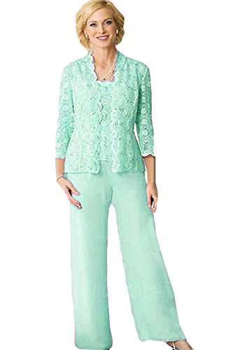 (Women's Plus Size Special Occasion Pant Sets Mint Size 2)