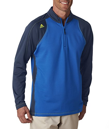 adidas A276 Adidas Men's ClimaWarm 3-Stripes Color Block 1/4-Zip Training Top 3XL