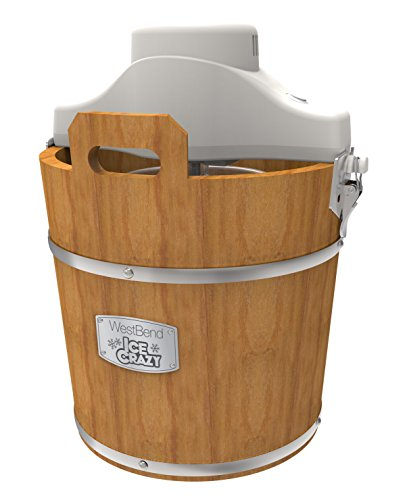 West Bend IC16909 Wooden Bucket Ice Cream Maker 4 Quart