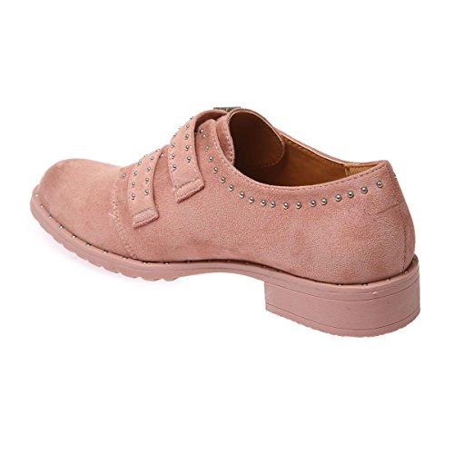cordones de mujer para Rose Zapatos La Modeuse EtwqF6tR
