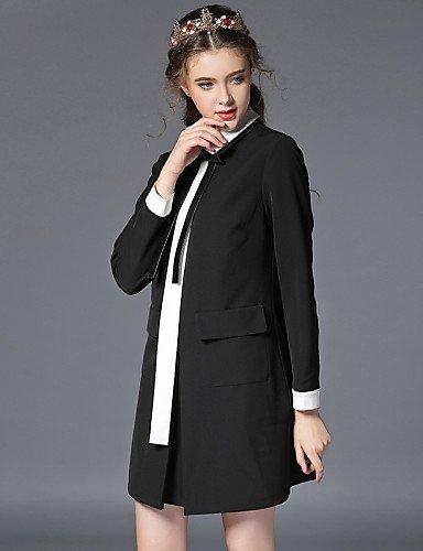GSP-Damen Kleid - Übergrößen Übergröße / Retro / Party / Arbeit / Leger Einfarbig / Patchwork Übers Knie Baumwolle / Nylon / Elasthan