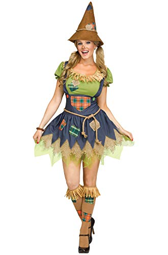Fun World Women's Scarecrow, Multi, M/L Size 10-14 -
