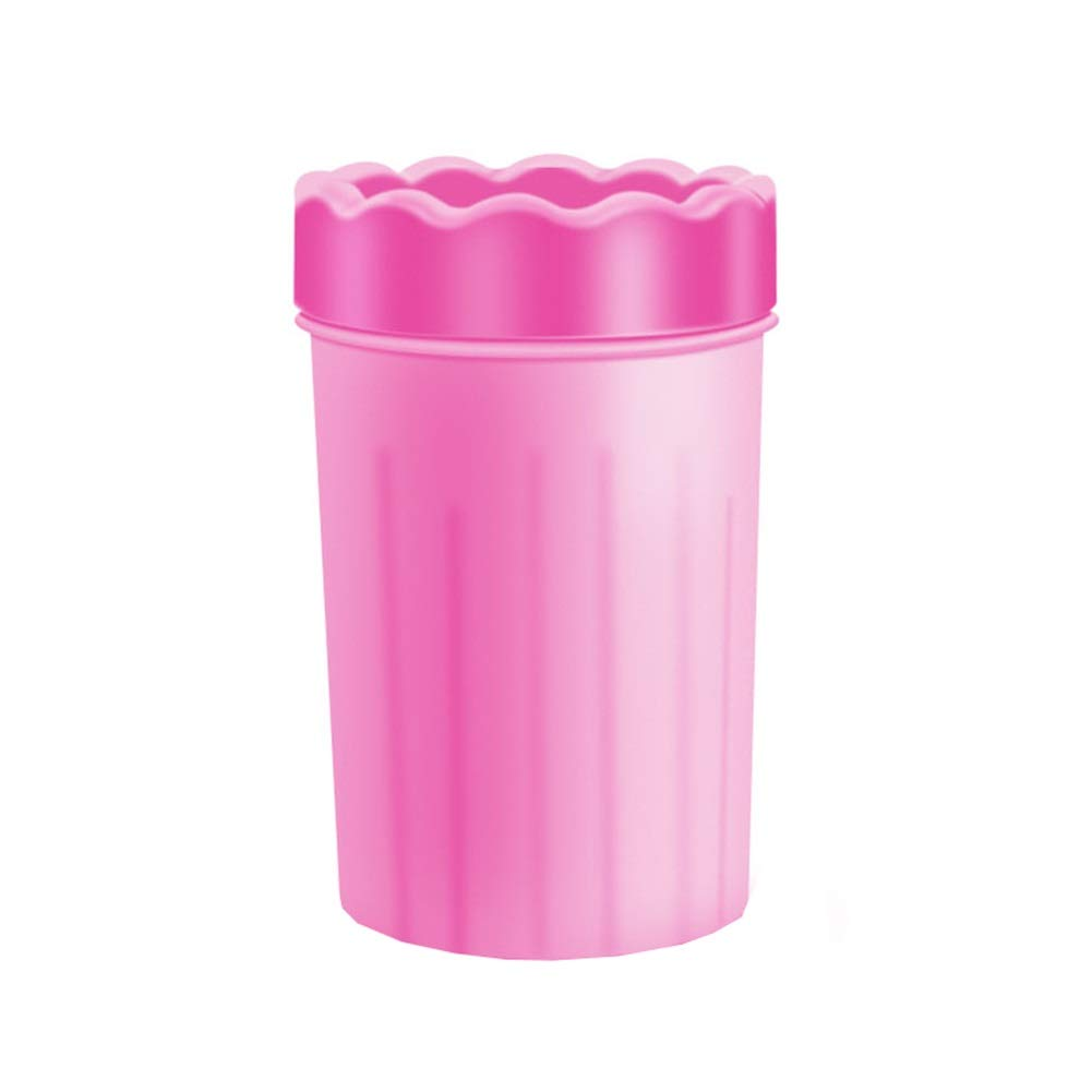 PINK Dog Foot Cup, Soft Silicone Portable Dog Foot Washing Artifact Clean Feet Cat Claws for Puppy Small and Medium Dogs Foot Cleaning Cup (color   Pink)