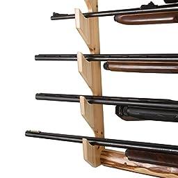 Rush Creek Creations Rustic 5 Gun Wall Rack