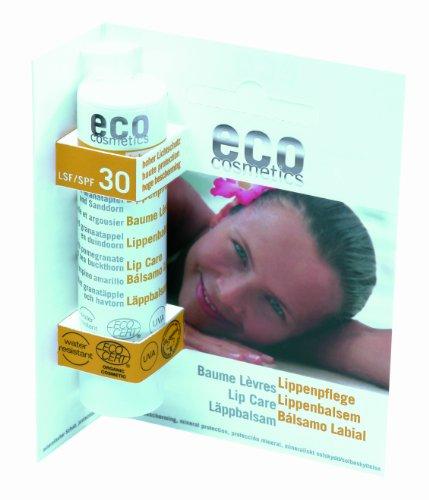 eco cosmetics Lippenpflegestift LSF 30 (bio, Naturkosmetik) Lippenbalsam 4 g