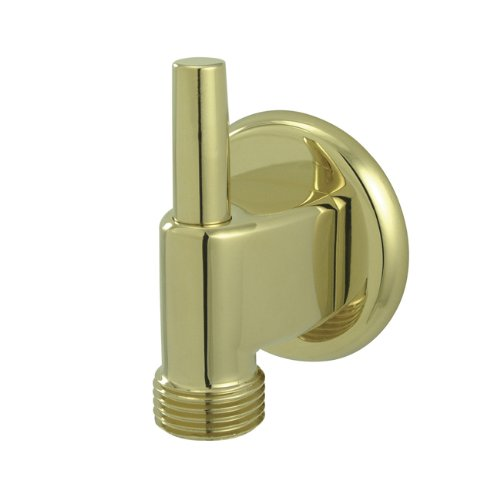 Kingston Brass K174A2 Designer Trimscape Showerscape Wall Mount Water Supply Elbow with Pin Wall Hook, Polished Brass