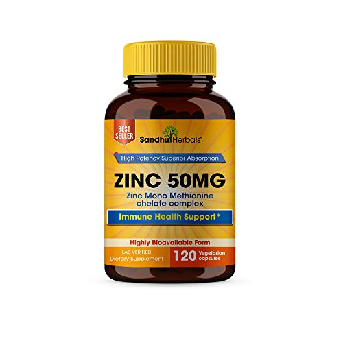 🥇 Zinc 50mg Supplement