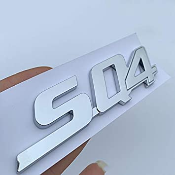 glossy black Letters Emblem for Maserati Ghibli SQ4 Logo Car Trunk Side Sticker Chrome Glossy Black