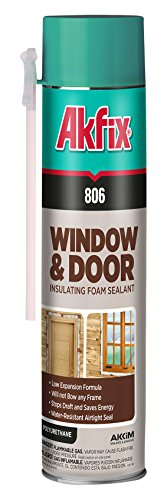 Akfix 806 Window and Door Insulating Foam Sealant, 24 oz. Straw Can, Low Expansion (Pack of 12) by Akfix