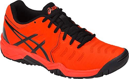 ASICS Gel-Resolution 7 GS Kid's Tennis Shoe, Cherry Tomato/Black, 6 M US Big -
