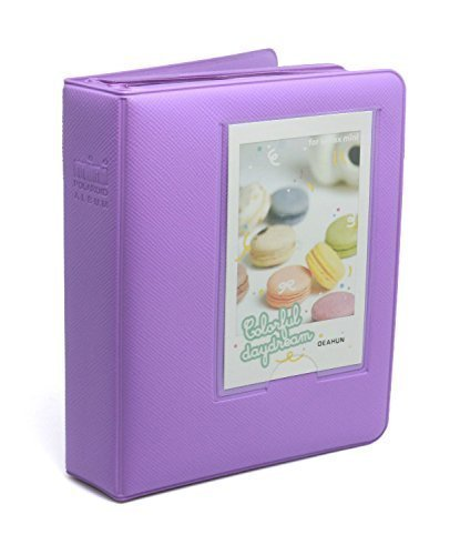 CLOVER Candy Color Fuji Instax Mini Book Album for Instax Mini7s 8 25 50s Film---Lavender