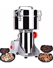 Upgraded Electric Grain Grinder Mill High-Speed Spice Herb Mill Commercial Powder Machine Dry Cereals Grinder CE (800g Swing Type)