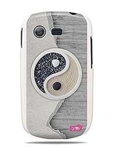 GRÜV Premium Case - 'Yin Yang Chi Earth Yoga Buddhist Peace' Design - Best Quality Designer Print on White Hard Cover - for Samsung Galaxy Star S5280 S5282