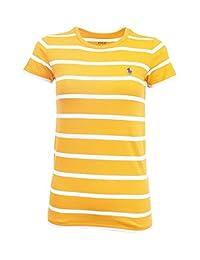 Ralph Lauren Sport Women's Crewneck T-shirt 2016 model (Orange/White)