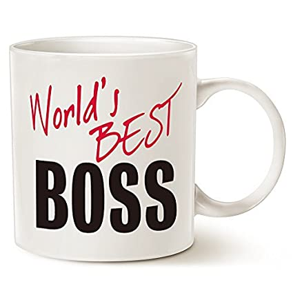 Amazon.com: Funny Christmas Gifts Coffee Mug, World\'s Best BOSS Mug ...