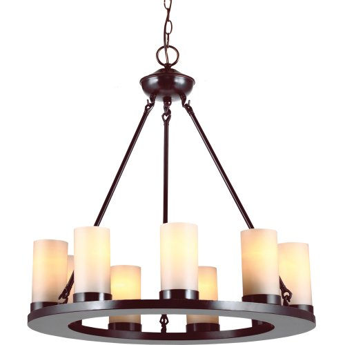 Sea Gull Lighting 31587-710 Ellington Nine Light Chandelier, Burnt Sienna Finish