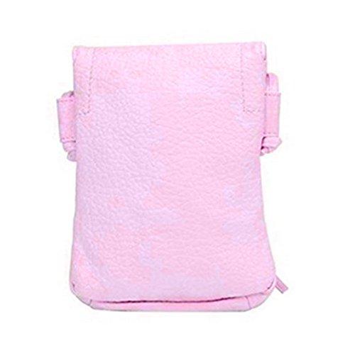 Leather Wallet Handbag Pouch Crossbody Cellphone Bag YaJaMa Small Pink Purse Shoulder FwdnRA