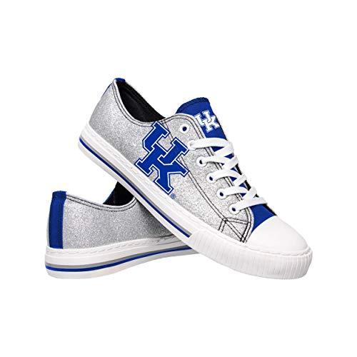 FOCO NCAA Kentucky Wildcats Womens Glitter Low Top Canvas ShoesGlitter Low Top Canvas Shoes, Team Color, 8/L