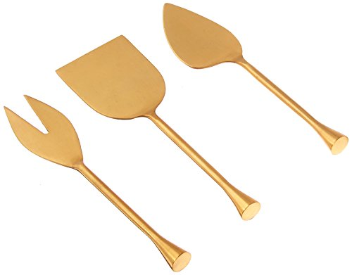 Thirstystone NCH054 Old Hollywood 3 Piece Cheese Tools Set, Gold
