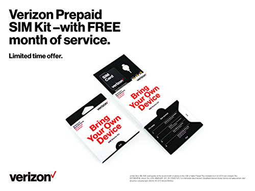 Used, Verizon Prepaid Sim Kit with FREE 2nd Month of Service for sale  Delivered anywhere in USA