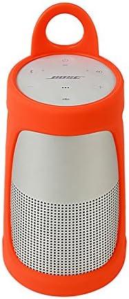 Meijunter Portable Carry Silicone Case Sling cover Protective Bag Sleeve Pouch for Bose SoundLink Revolve Bluetooth Speaker Orange