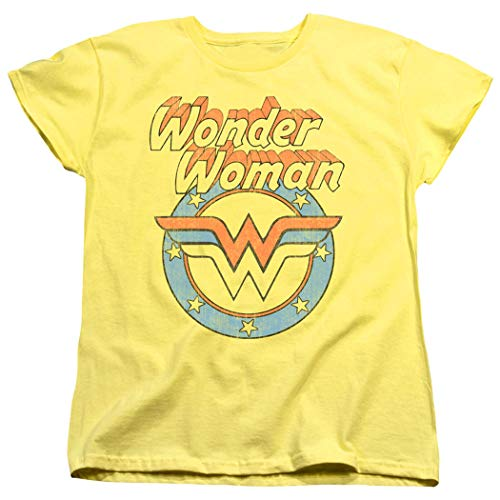 Popfunk Wonder Woman Officially Licensed T-Shirt & Exclusive Stickers (Large)]()