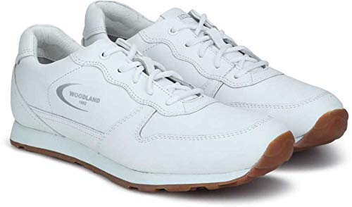 White Leather Sneakers-10 UK/India
