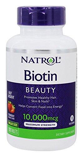 Natrol Biotin Fast Dissolve Tablets, 10,000mcg, 120 Count