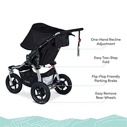 41YEj c R L - BOB Gear Rambler Jogging Stroller | Smooth Ride Suspension + Easy Fold + XL Canopy Coverage, Black [New Logo]
