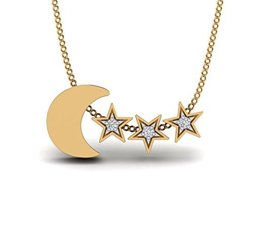 (1/6ct Natural Diamond 10K Gold Dog Paw Print & Dog Favorite Bone Pendant By Fehu Jewel)