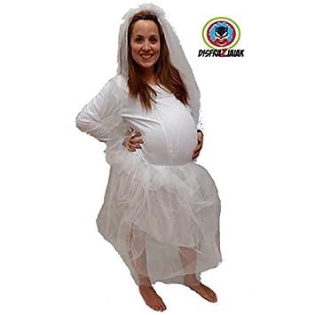 Disfraz de Despedida de Soltera de Novia Embarazada: Amazon.es ...