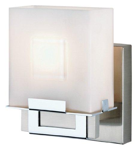 Forecast Lighting F442036NV Square 1 Light Ada Compliant Wall Sconce, Satin Nickel/Chrome -