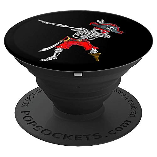 Dabbing Skeleton Pirate T Shirt Halloween Kids PopSocket - PopSockets Grip and Stand for Phones and -