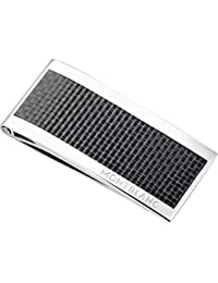 Steel and Black Carbon Money Clip 104731