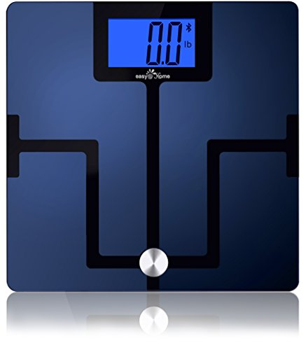Easy@Home Digital Bluetooth Body Fat Smart Scale with App for iOS and Android Mobile Devices, CF351BT (Easy Body)