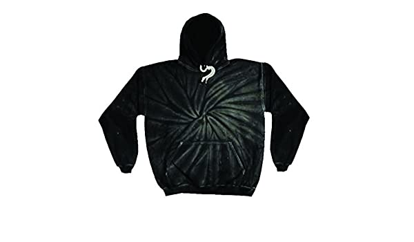 5df81d1ff Colortone Unisex Tonal Spider Tie Dye Pullover Hoodie (S) (Spider Black) at  Amazon Women's Clothing store: