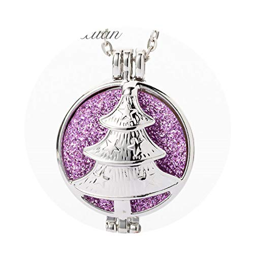Stainless Steel Necklace Christmas Deer Aromatherapy Pendant Essential Oil Perfume Aroma Diffuser Small -