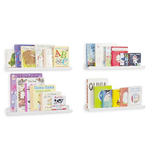 Wallniture Denver Wall Mounted Floating Shelves for Nursery Decor - Kid
