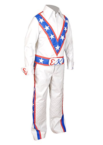 Suit Motorcycle Pant Leather Multicoloured F Jacket Genuine Evel Knievel amp;h Men's F1xcRCpq