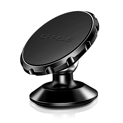 Magnetic Phone Car Mount, CAFELE Universal 360° Rotation Magnet Car Phone Holder Metal Stand Dashboard Car Cradle Mount Compatible with iPhone, Sumsung, Google, Pixel, LG, Huawei, etc - Black